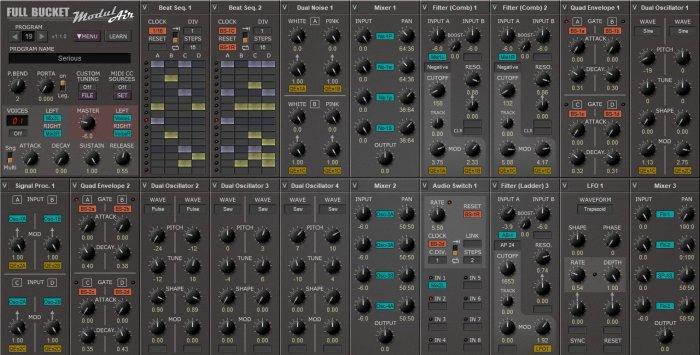 Sintetizador ModulAir free modular synth de Full Bucket Music actualizado